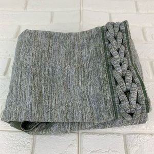 Lululemon vinyasa scarf space dye braided green
